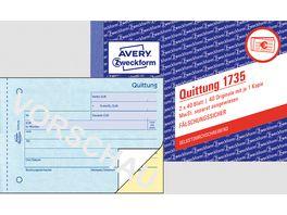 sigel Formularbuch Quittung SD021 A6 2 x 40Blatt