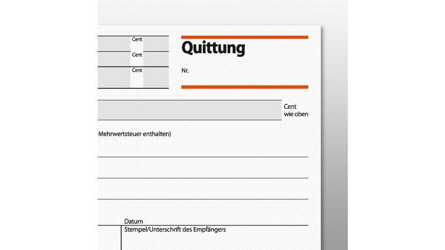 sigel Formularbuch Quittung QU625 A6 2 x 50Blatt