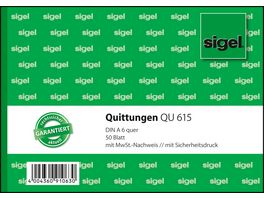 sigel Formularbuch Quittung QU615 A6 50Blatt