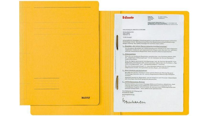 LEITZ Pappschnellhefter A4 gelb