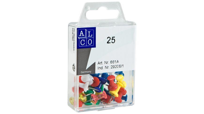 ALCO Pin Wand Nadeln 120 Stueck farbig
