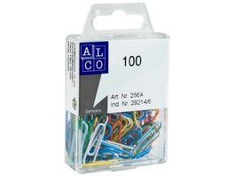 ALCO Bueroklammern 100 Stueck 26mm farbig