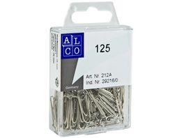ALCO Bueroklammern 125 Stueck 26mm verzinkt