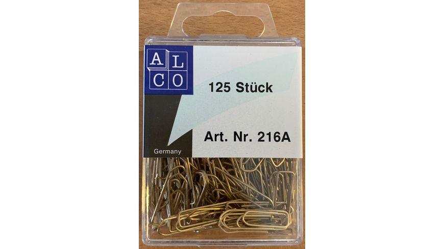 ALCO Bueroklammern 125 Stueck 26mm Messing