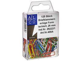 ALCO Bueroklammern 125 Stueck 26mm farbig