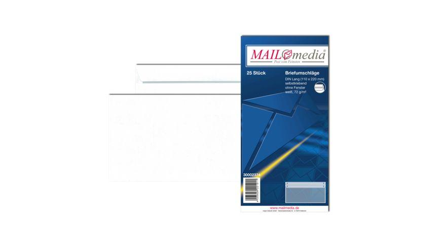 TORGAU Briefumschlag ohne Fenster DIN lang selbstklebend weiss