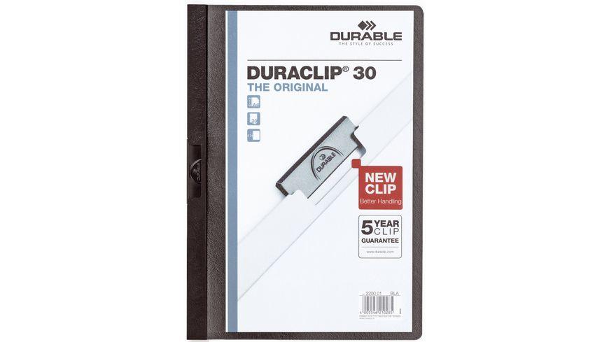 DURABLE Klemm Mappe DURACLIP A4 30 Blatt schwarz