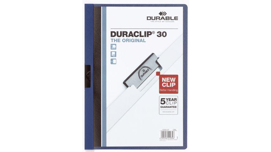 DURABLE Klemm Mappe DURACLIP A4 30 Blatt dunkelblau