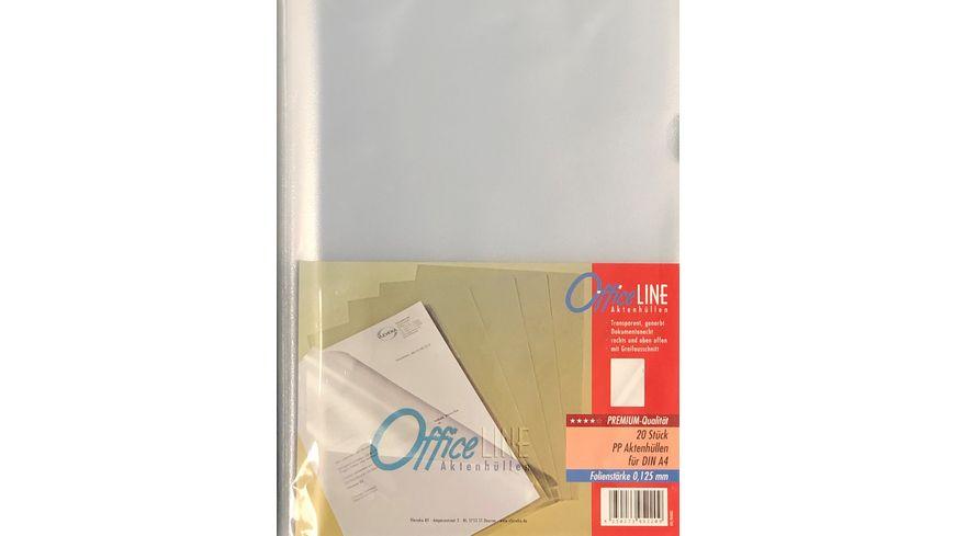 OfficeLINE Aktenhüllen A4 transparent genarbt 20 Stück