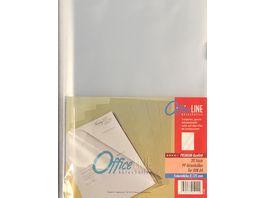 OfficeLINE Aktenhuellen A4 transparent genarbt 20 Stueck