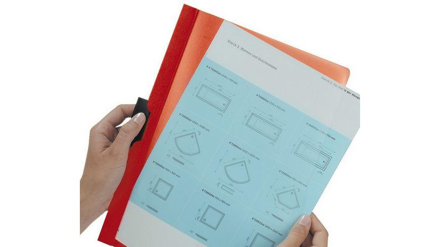 DURABLE Klemm Mappe DURACLIP A4 30 Blatt rot