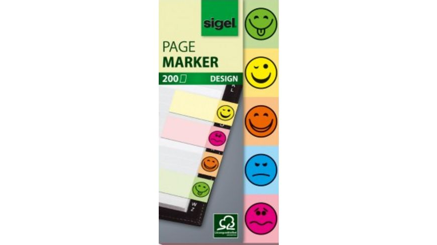 sigel Haftmarker Smiley 200 Blatt 20 x 50mm