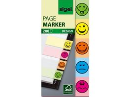sigel Haftmarker Smiley 200 Blatt 20 x 50mm