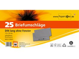 Briefumschlaege DIN Lang ohne Fenster Recycling grau