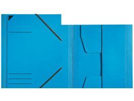 Eckspanner A4 Jurismappe blau