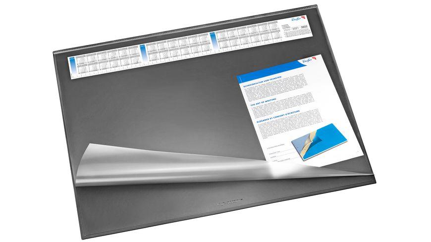 Läufer Schreibtischunterlage Synthos 52x65 cm Vollsichtplatte + Kalender