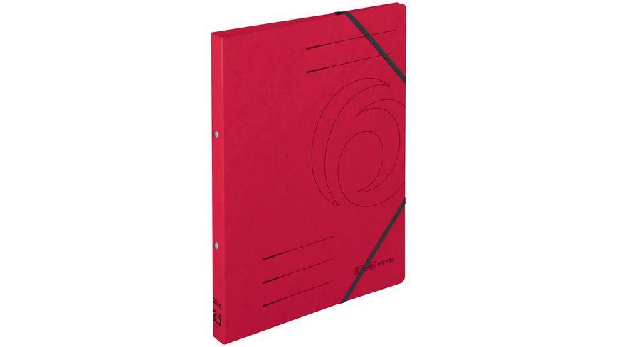 herlitz Ringbuch A4 mit Eckspanner rot