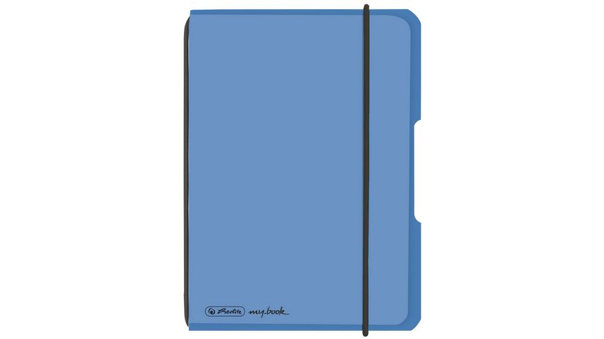 herlitz my book flex Notizheft PP A6 40Blatt kariert blau