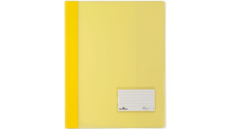 DURALUX Schnellhefter A4 PP gelb
