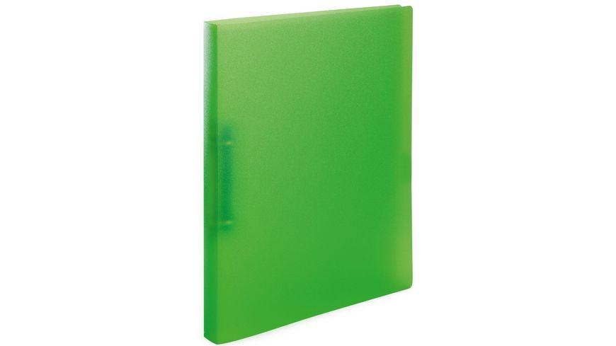 HERMA Ringbuch A4 transluzent hellgrün