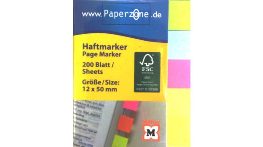 PAPERZONE Haftmarker 200 Blatt 12 x 50mm