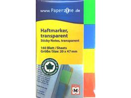 PAPERZONE Haftmarker transparent 160 Blatt 20 x 47mm