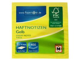 PAPERZONE Haftnotizwuerfel 400 Blatt gelb