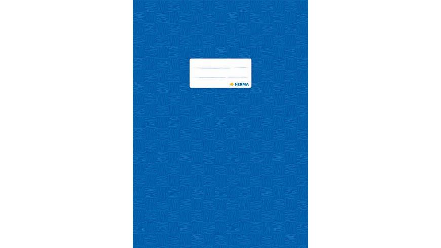 HERMA Hefthuelle A4 gedeckt dunkelblau