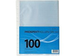 PAPERZONE Prospekthuellen genarbt 100Stueck