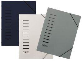 PAGNA Ordnungsmappe 6teilig schwarz weiss oder grau sortiert