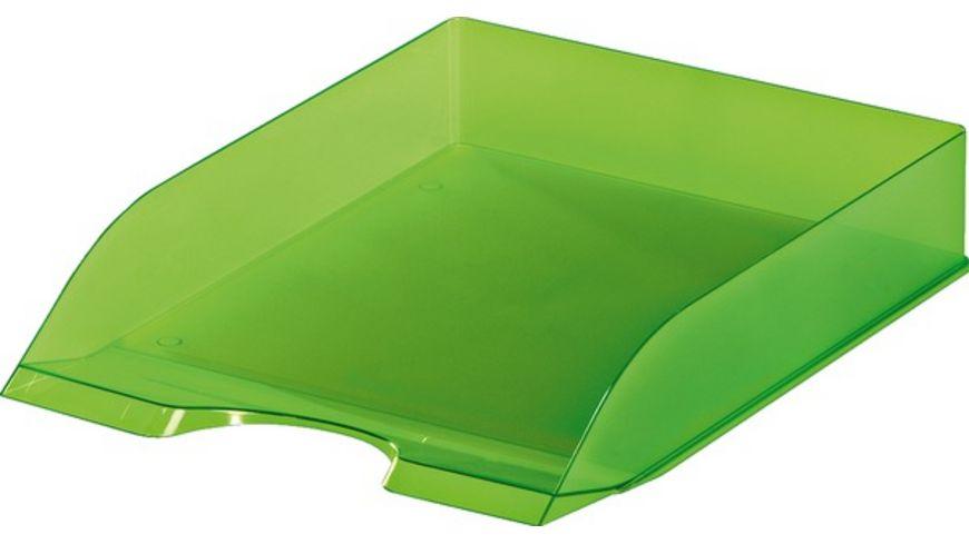 DURABLE Ablagekorb A4 transluzent gruen