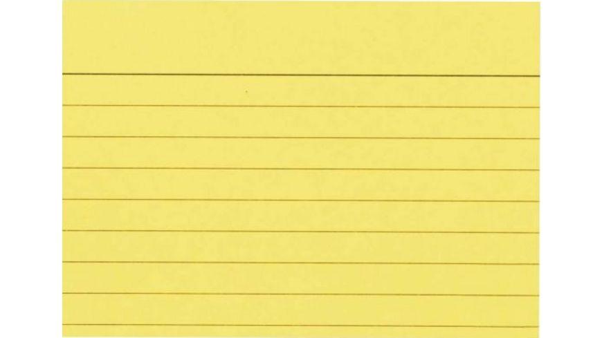 Karteikarten liniert A8 100 Stueck gelb
