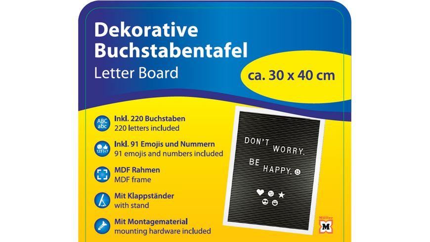 Letterboard 30x40cm