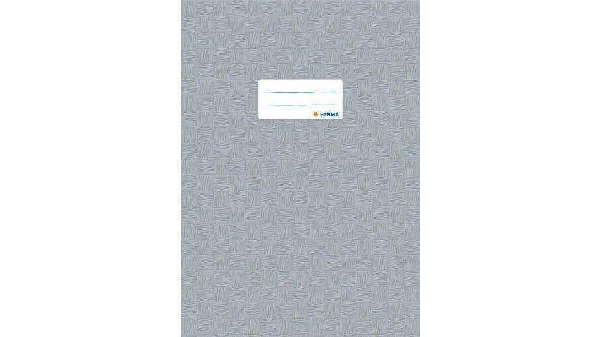 HERMA Hefthuelle A4 gedeckt grau