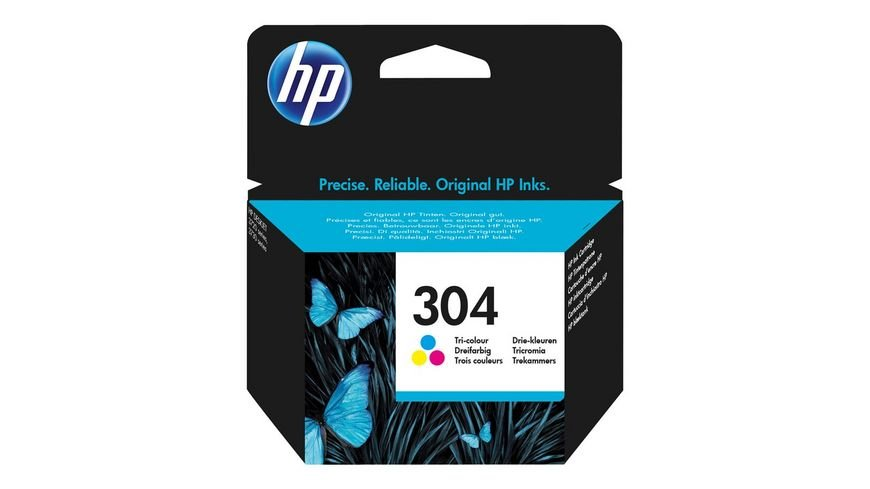 HP Druckerpatrone 304 3 Pack CMY