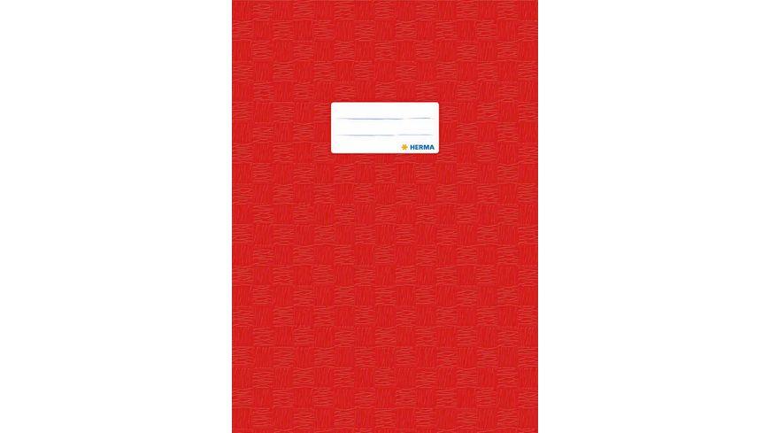 HERMA Hefthuelle A4 gedeckt rot