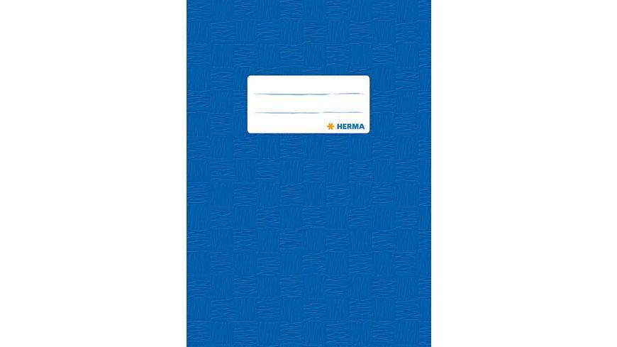 HERMA Hefthuelle A5 gedeckt dunkelblau