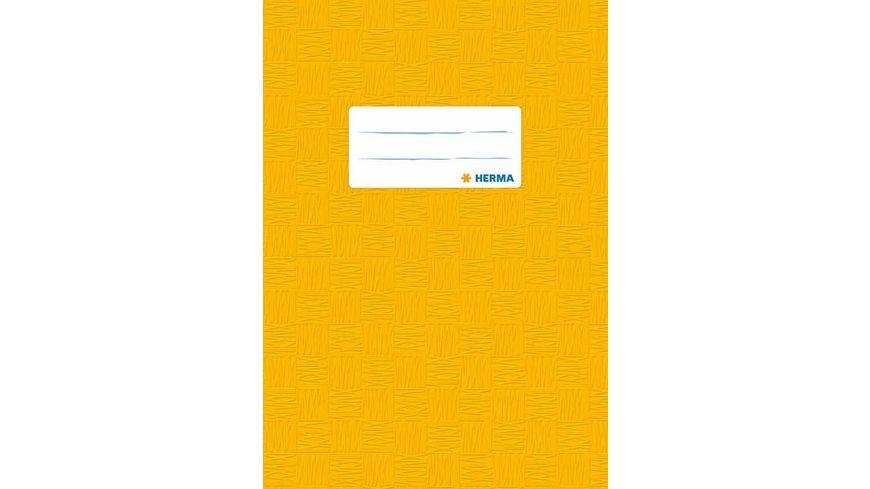 HERMA Hefthuelle A5 gedeckt gelb