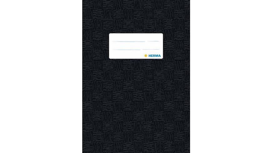 HERMA Hefthuelle A5 gedeckt schwarz