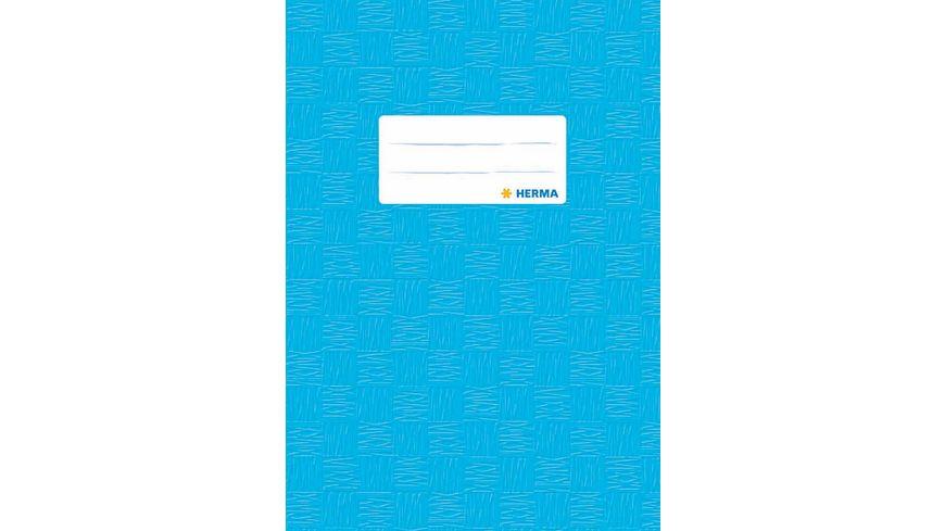 HERMA Hefthuelle A5 gedeckt hellblau