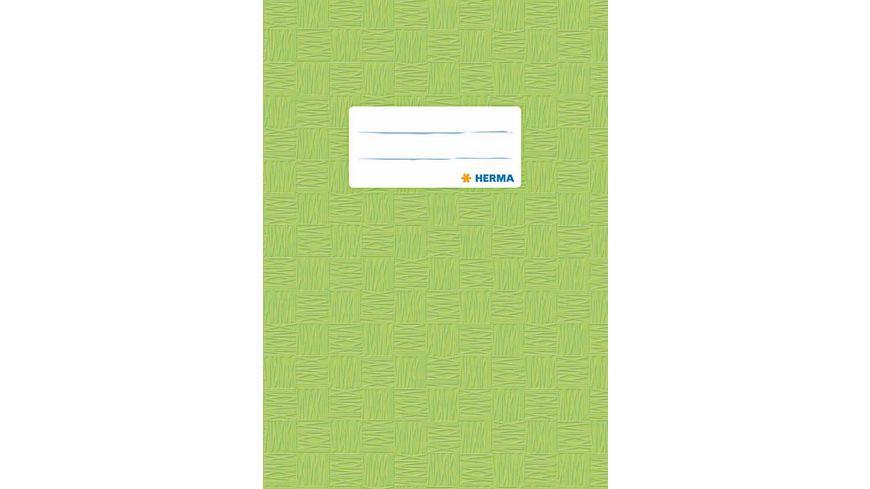 HERMA Hefthülle A5 gedeckt hellgrün