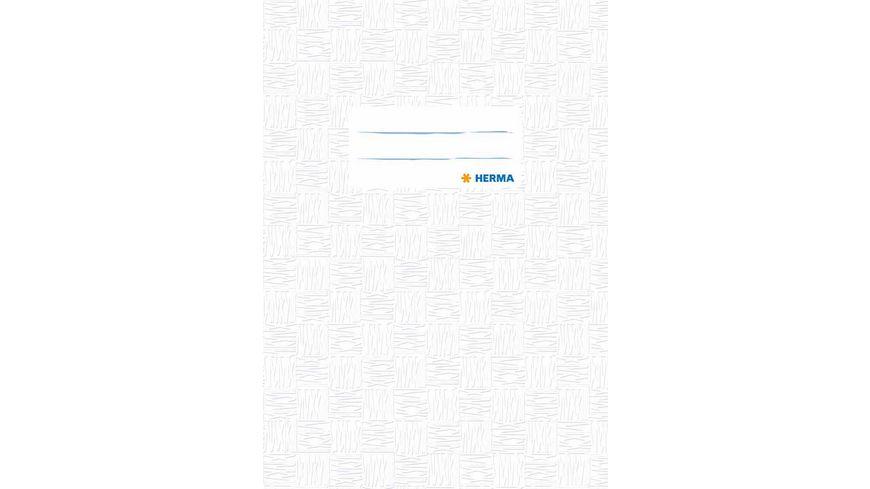 HERMA Hefthuelle A5 gedeckt weiss