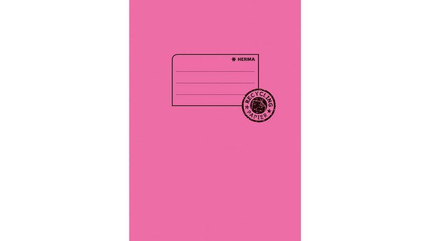 HERMA Hefthülle A5 aus Papier pink