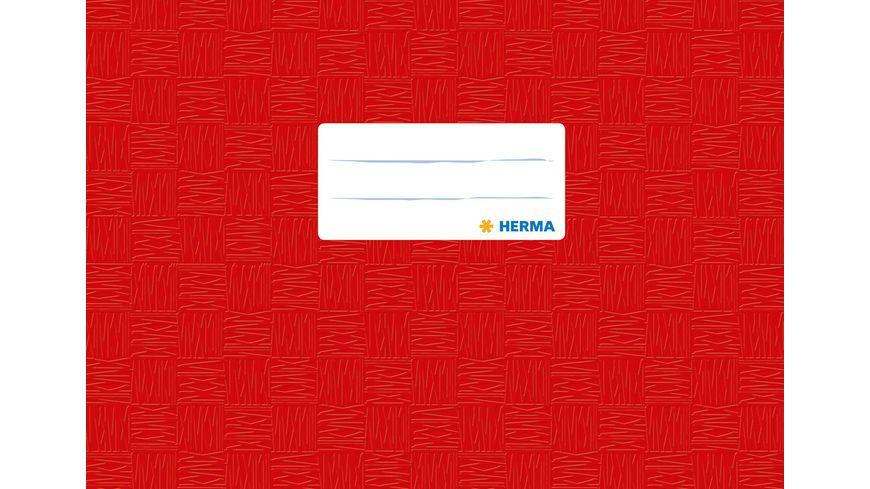 HERMA Hefthülle A5 gedeckt rot quer für Notenheft