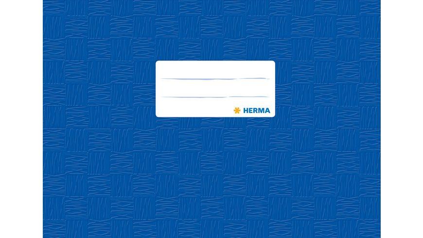 HERMA Hefthülle A5 gedeckt blau quer für Notenheft