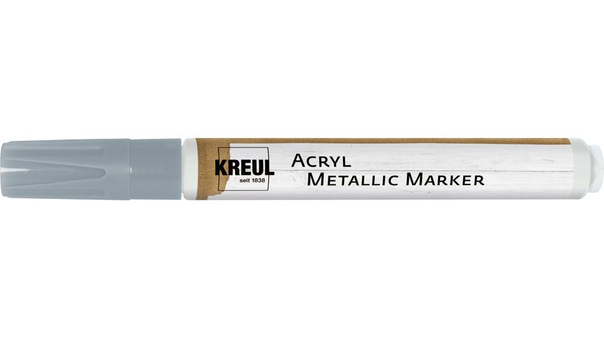 KREUL Acryl Metallic Marker medium Silber
