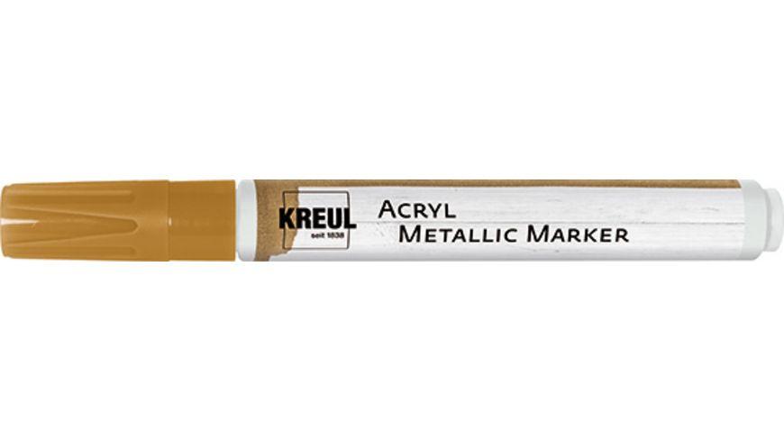 KREUL Acryl Metallic Marker medium Gold