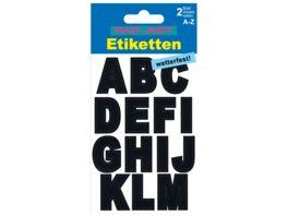PAP ART Buchstaben Etiketten wetterfest 25mm