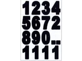 PAP ART Zahlen Etiketten wetterfest 25mm