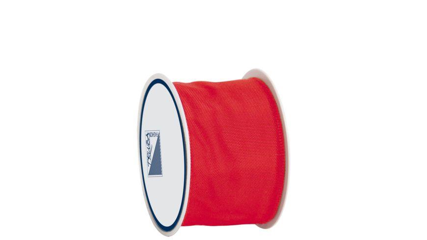 TRUBA Drahtkantenband auf Rolle 40mm x 3m rot